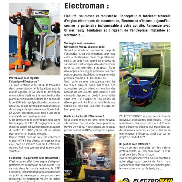 electroman reportage magazine entreprendre