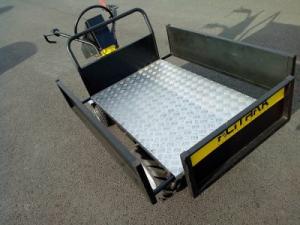 Brouette électrique avec plateau extensible