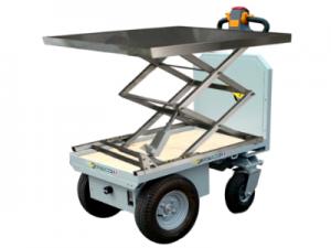 Chariot électrique avec table élévatrice
