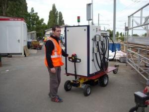 Transporteur électrique avec tête de timon