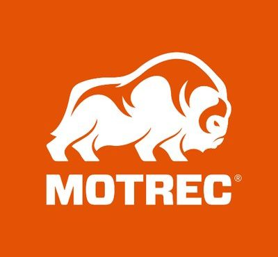 logo Motrec orange blanc